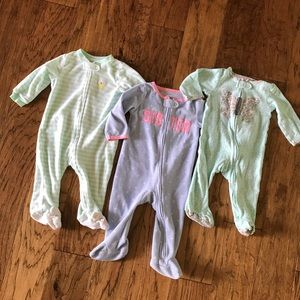 Baby girl 9 month pajamas